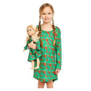 LEVERET Strawberry Nightgown Matching Doll Set NWT